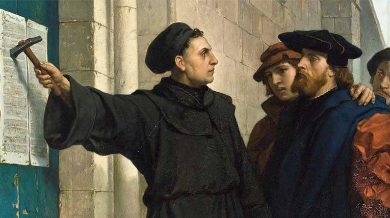 Luthers Thesenanschlag © Ferdinand Pauwels, wikimedia