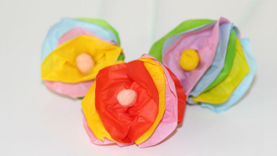 Top Blumen aus Seidenpapier basteln | kindersache RF44